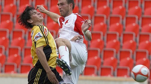 Přípravný zápas: Slavia Praha - Hradec Králové.