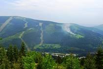 Špindlerův Mlýn: požár chaty Horalka