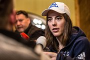 Slovenská lyžařka Petra Vlhová dorazila na Světový pohár v lyžování ve Špindlervoě Mlýně.