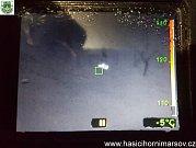 Pod Rýchorskou boudou se ztratil turista, našli ho díky termokameře.