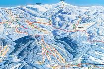 SKIRESORT nyní zahrnuje území Janských Lázní resp. Černé hory, Černého Dolu, Svobody nad Úpou, Velké Úpy i Pece pod Sněžkou.