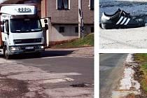 V DEZOLÁTNÍM STAVU. Silnice probíhající obcemi Libňatov a Maršov u Úpice pije řidičům krev. Výmoly zde dorostly do obludných rozměrů a pravidelným jezdcům způsobují finanční zatížení.