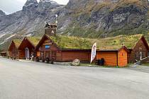 Obchůdky s regionálními potravinami v Norsku.