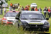 Rally Krkonoše 2010: rychlostní zkouška Bernartická.