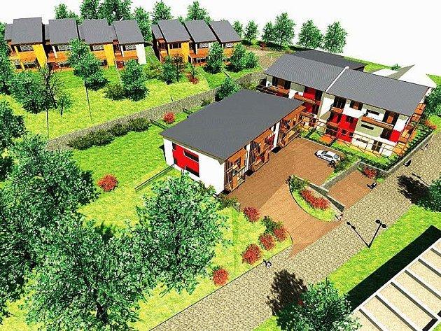 VIZUALIZACE OBYTNÉ ZÓNY. Součástí moderních staveb je i takzvaný vilový dům, kde bude k dispozici šest bytů vyšší kategorie.