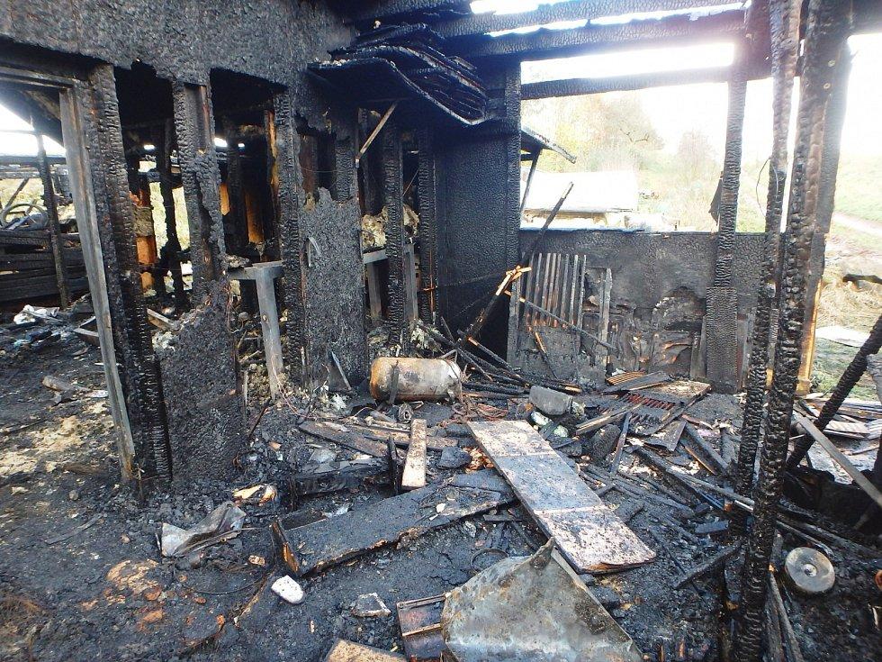 Požár truhlářské dílny v Pilníkově
