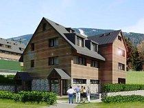 Firma CONMACO Mísečky staví v Horních Mísečkách horské apartmánové objekty.