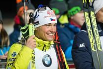 Český biatlonista Michal Krčmář.