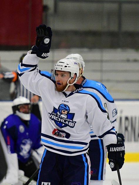 Vrchlabským hokejistům zajistila vítězství jediná branka zhole Aleše Půlpána (na snímku).