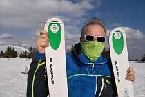 Rudolf Kopek tento týden dvakrát vyrazil na zdravotní skialpinistickou procházku. Na horách potkal minimum lidí.
