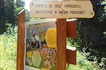 PANELY Včelí naučné stezky Jana hraběte Harracha přibližují život včel a včelařů.
