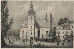 Starý kostel sv. Vavřince na vrchlabském náměstí Míru, který byl zbouraný v roce 1886. V jeho základech se našly pozůstatky gotického kostelíku, nejstarší stavby v historii Vrchlabí.