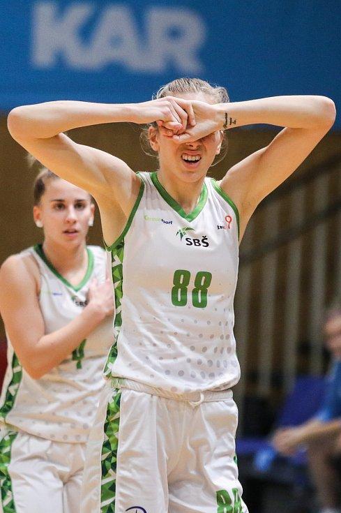 Utkání 10. kola Ženské basketbalové ligy: SBŠ Ostrava - BK Loko Trutnov, 5. prosince 2018 v Ostravě. Na snímku Hadačová Lucia.
