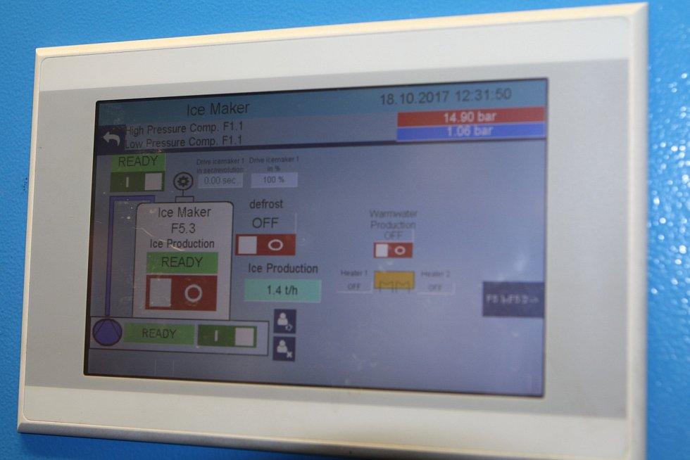 SNÍH NA ČERNÉ HOŘE. SkiResort již díky moderní technologii, navzdory teplému počasí, zasněžuje část sjezdovky Anděl.