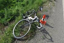 Nehoda cyklisty v obci Kocbeře na Trutnovsku.