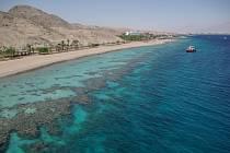 Pohled na rezervaci od egyptské hranice směrem na sever.