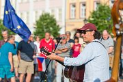 Z trutnovské demonstrace proti Andreji Babišovi.