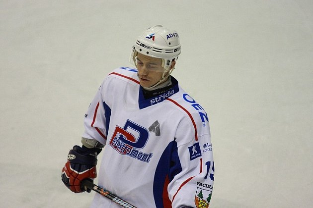 Vrchlabský hokejista Petr Horčička.