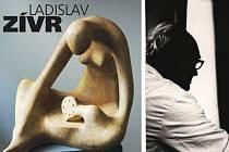 NA KNIŽNÍM PŘEBALU, který navrhl Otakar Karlas, je vyobrazena Zívrova plastika Naslouchající z roku 1948.  Snímek vpravo z konce 60. let pak zachycuje Ladislava Zívra.