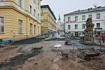 V Trutnově je v plném proudu rekonstrukce pěší zóny v centru města.