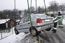 Dopravní nehoda v Horním Maršově