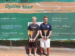 Finalisté mužské dvouhry 18. ročníku JUTA cupu - Filip Michl a Daniel Vala.