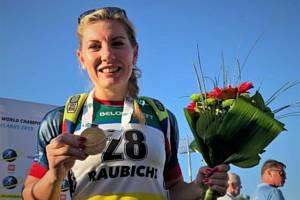 Vrchlabská biatlonistka slaví jeden z největších úspěchů kariéry.