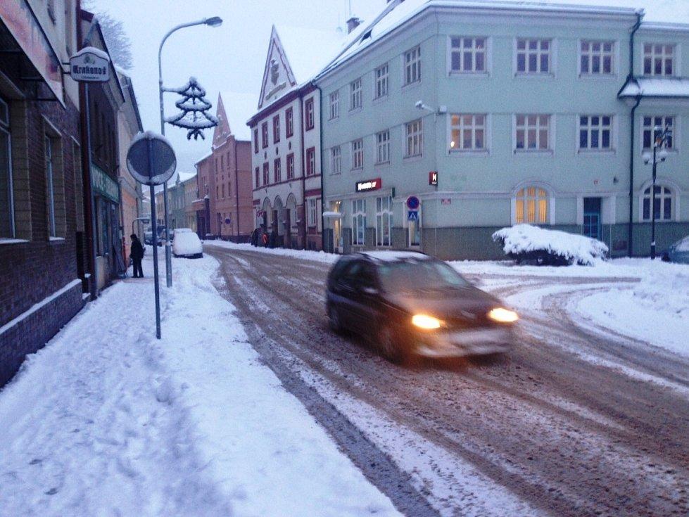 Dopravní situace z Úpice na Trutnovsku