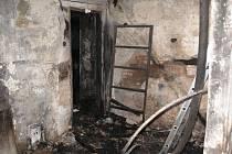 Požár domu v Bernarticích