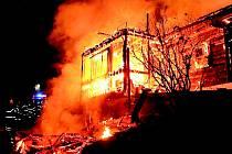 Požár v Jablonci nad Jizerou.