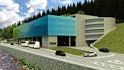 V Peci pod Sněžkou začíná výstavba moderního dopravního terminálu s velkým parkovacím domem pro 457 aut za 167 milionů korun bez DPH.