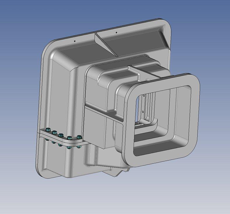 3D model střílny pro bunkr na Stachelbergu.