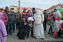 Masopust pod obry: dorazil Komenský a byla i svatba.
