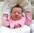SIMONA ŠTEFÁNIKOVÁ se narodila 7. listopadu ve 21.48 hodin rodičům Simoně a Martinovi. Vážila 4,01 kg a měřila 50 cm. Spolu se sestřičkou Emily bydlí ve Dvoře Králové.