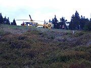 Nehoda paraglidu na Černé Hoře