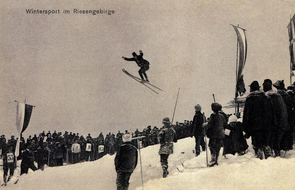 Skok na lyžích.