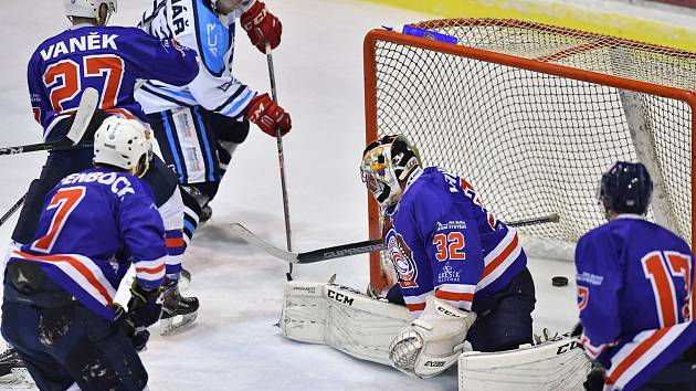 Čtvrtfinále play off hokejové II. ligy: HC Stadion Vrchlabí - HC Děčín.