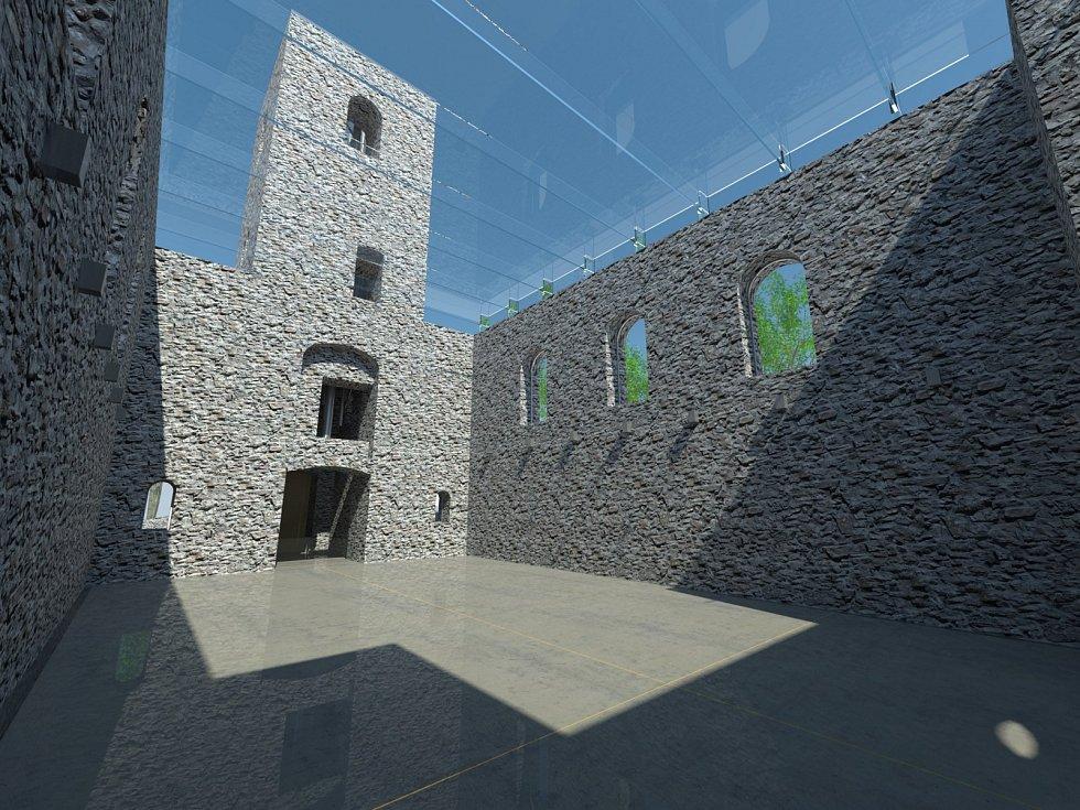 Originální způsob řešení obnovy evangelického kostela v Rudníku Bolkově v podání studenta Fakulty umění a architektury Technické univerzity Liberec Martina Brhlíka zaujalo občany Rudníku.