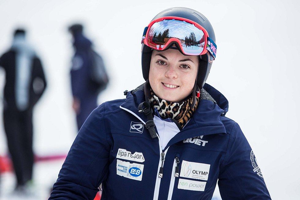 Kateřina Pauláthová a Světový pohár v lyžování ve Špindlerově Mlýně.