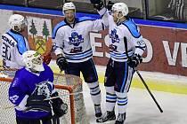 Jabloneckého gólmana Hrstku překonali vrchlabští hokejisté hned šestkrát.