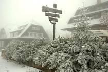 13. říjen 2009 - První sníh v Krkonoších