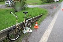 Nehody cyklistky s dodávkou ve Vrchlabí