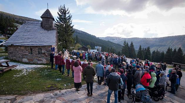 Pouť ke kapličce sv. Františka ve Špindlu