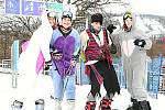 Kněžický vrch ovládly maškary na lyžích.