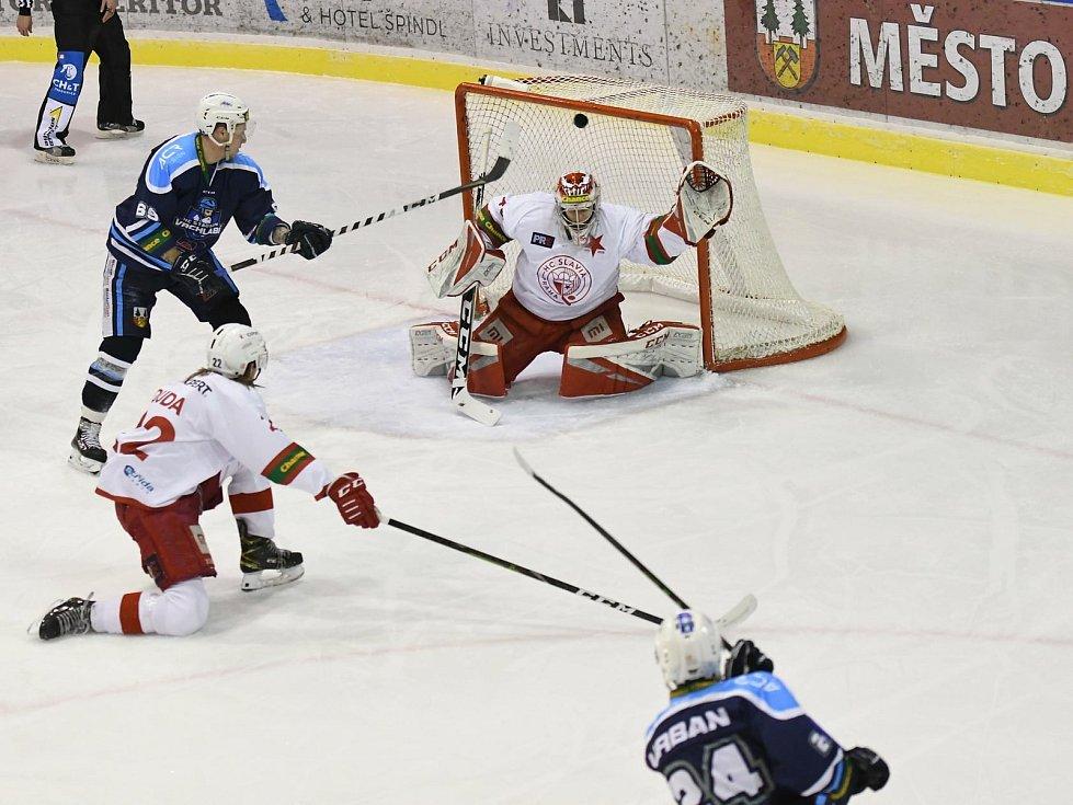 Vrchlabští hokejisté si v domácím utkání 22. kola Chance ligy proti Slavii připsali dva body.