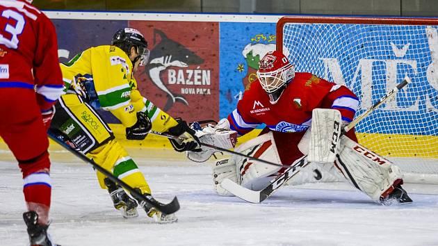 V souboji Nové Paky a Dvora Králové nad Labem se o vítězi rozhodovalo v závěrečné třetině.