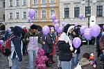 Hostinné: K nebi se vznesly fialové balonky s přáními Ježíškovi