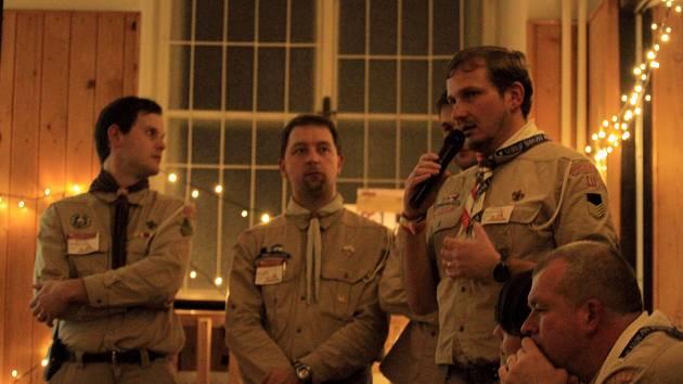 Setkání skautských vůdců v Hostinném.