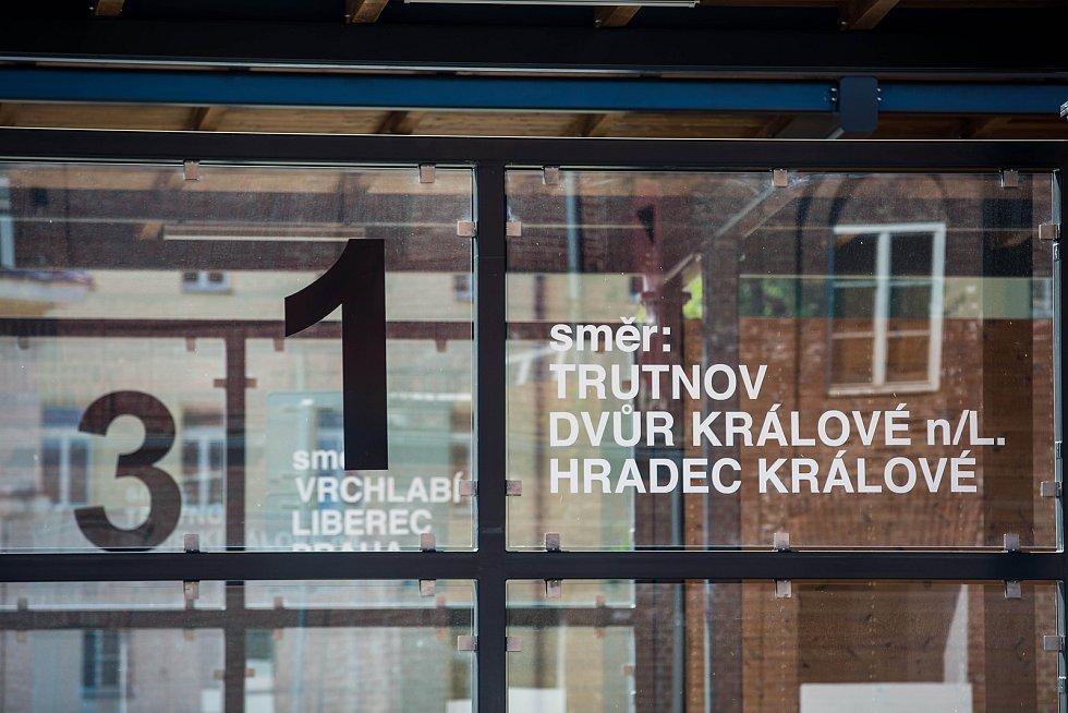 Nový autobusový termínál v Hostinném na Trutnovsku