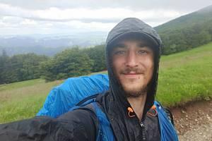 Ivan Mitrus během pěší cesty ze Sicílie do Švédska.